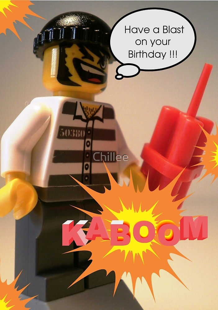 Have a Blast on Your Birthday Greeting Card by Customize My Minifig