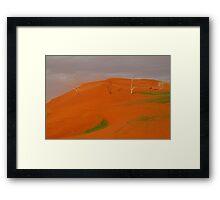 Desert Storm,Simpson Desert Australia Framed Print