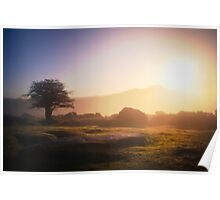 Sunrise on Dartmoor, Devon Poster