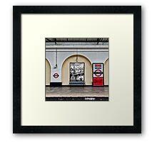 Fulham Broadway Tube Station Framed Print