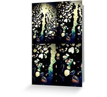 Water flowing through stones Greeting Card