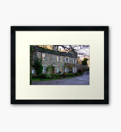 West Burton Cottages Framed Print