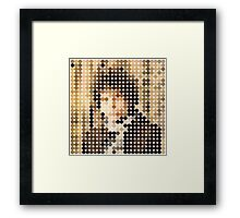 Bob Dylan, Blonde On Blonde, Benday Dots Framed Print