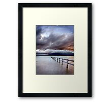 A Storm Brews, Mortimer Bay, Tasmania Framed Print