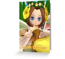 Cute But Oh So Modern Fairy On Mobile Phone Greeting Card