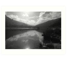 Morning Lakes Art Print