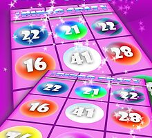 Ladies Adiction Bingo Birthday Card by Moonlake