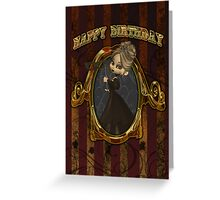 Steampunk Birthday Card With Moonies Cutie Pie Greeting Card