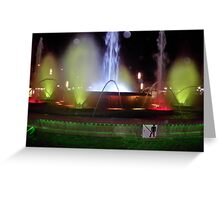 Salou coloured fountains Greeting Card
