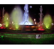 Salou coloured fountains Photographic Print