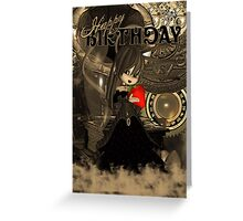 Steampunk Cute Birthday Card With Moonies Cutie Pie Greeting Card