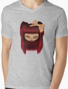 Little Happy Doll Mens V-Neck T-Shirt