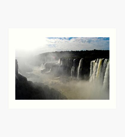 Iguazu Falls Seen from Brazil Art Print