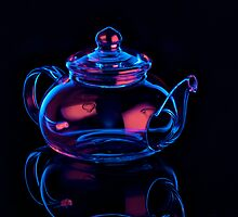 Electric Blue Tea Pot by RandiScott