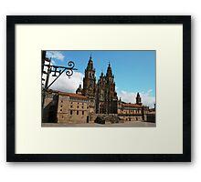 Postcard from Santiago de Compostela, Spain Framed Print