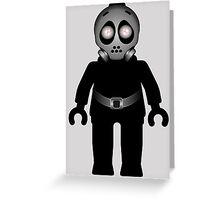 Zombie Apocalypse Hazmat Gas Mask Minifig Greeting Card