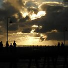 Sillouhettes On The Pier by judygal