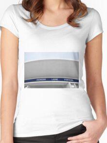 Hanger Lane Tube Station Women's Fitted Scoop T-Shirt