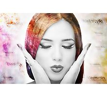 Young woman with colorful hair Photographic Print