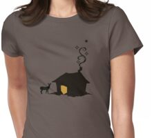 cabin retreat Womens Fitted T-Shirt