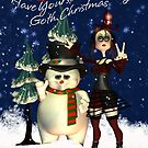 Have Yourself A Merry Gothic Christms, Card With Gothic Rag Doll  by Moonlake