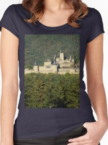 a historic Luxembourg landscape Women's Fitted Scoop T-Shirt