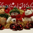 Christmas Ornament Card, With Reindeer, Snowman, Bear by Moonlake