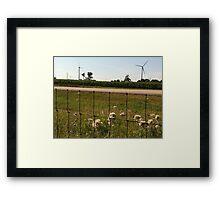 Wind in the feild Framed Print