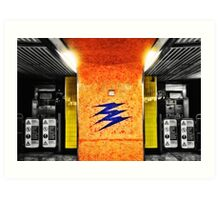 Hatton Cross Tube Station Art Print
