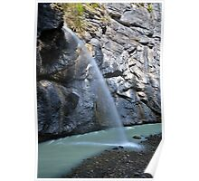 Waterfall in a gorge Poster