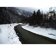 River Isar at Leutasch Photographic Print