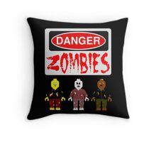 DANGER ZOMBIES Throw Pillow