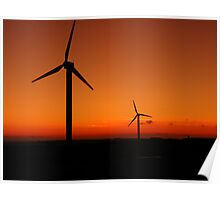 Cornwall: Wind Power at Delabole Poster