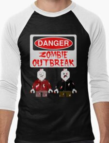 DANGER ZOMBIE OUTBREAK Men's Baseball ¾ T-Shirt