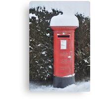 Christmas post box Canvas Print