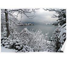 Town Walchensee - Winter Scene Poster