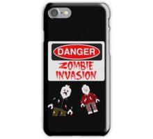 DANGER ZOMBIE INVASION iPhone Case/Skin