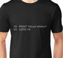 Hello World (White) Unisex T-Shirt