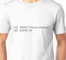 Hello World (Black) Unisex T-Shirt
