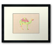 Lettering camel Framed Print