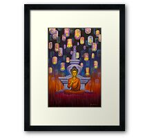 Light of Buddha Framed Print