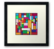 Colorful Tiles Framed Print