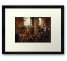 Blacksmith - It's getting hot in here Framed Print