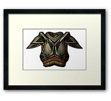 Skyrim Steel Armor Framed Print