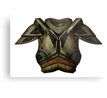 Skyrim Steel Armor Metal Print