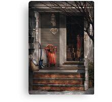 Winter - Rosebud and Shovel Canvas Print