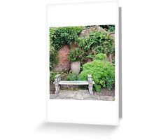 A perfect place, Burford house, Herefordshire Greeting Card