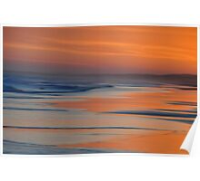 Sunset Canvas - Redhead Beach NSW Australia Poster
