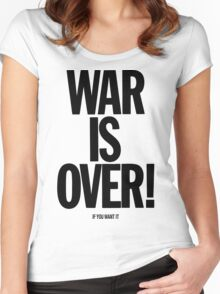 War is Over, if you want it - John Lennon Women's Fitted Scoop T-Shirt
