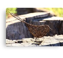 Wire Bird Canvas Print